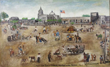 1849 Painting of Main Plaza