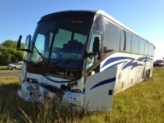 2013 Tour bus accident on I-35 South