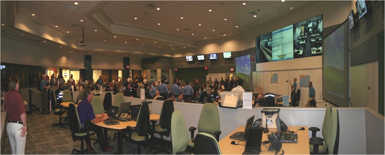 Emergency Operations Center Command Floor during Activation